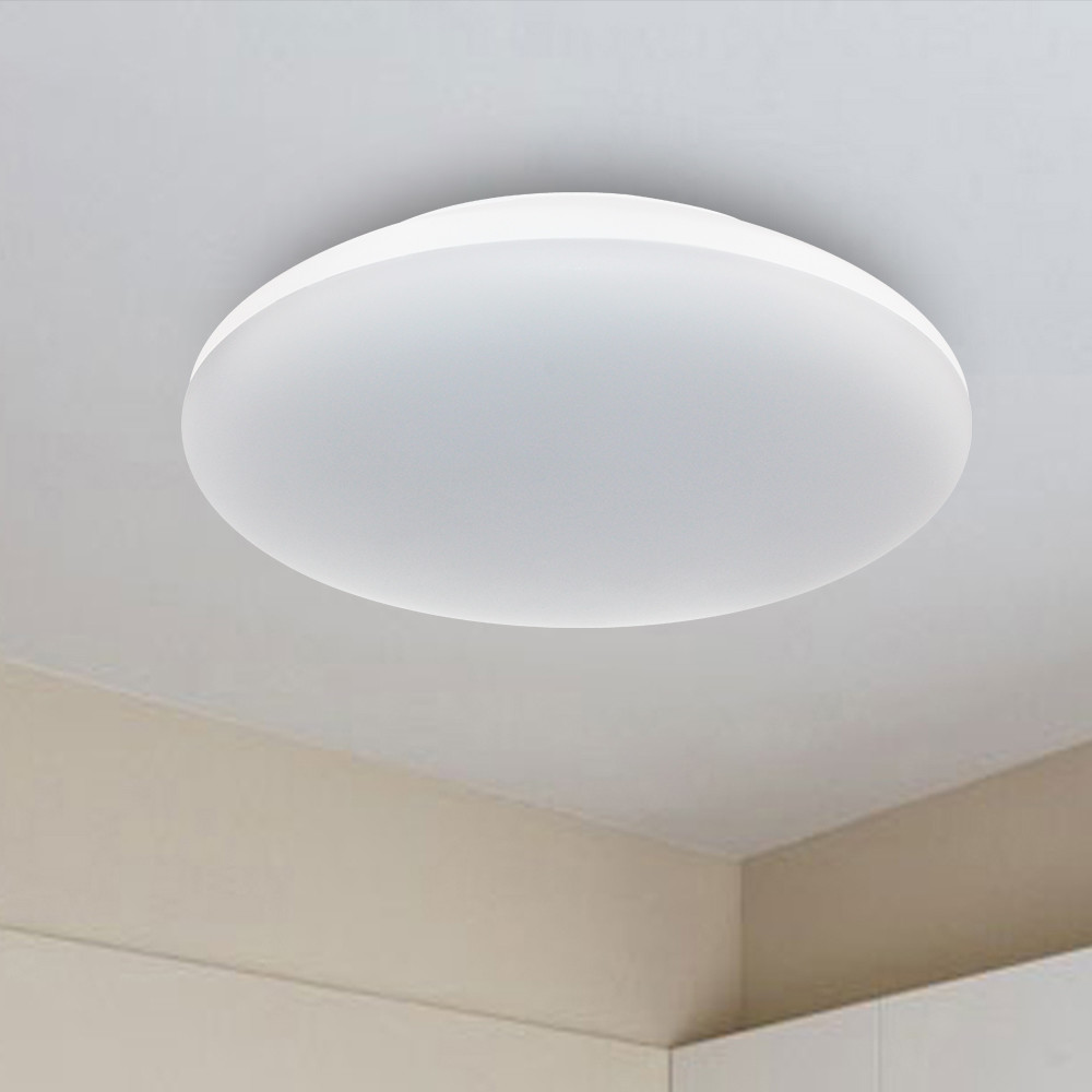 Modern IP65 25W Round PVC Oyster Sensor White Mount Ceiling Light For Living Room